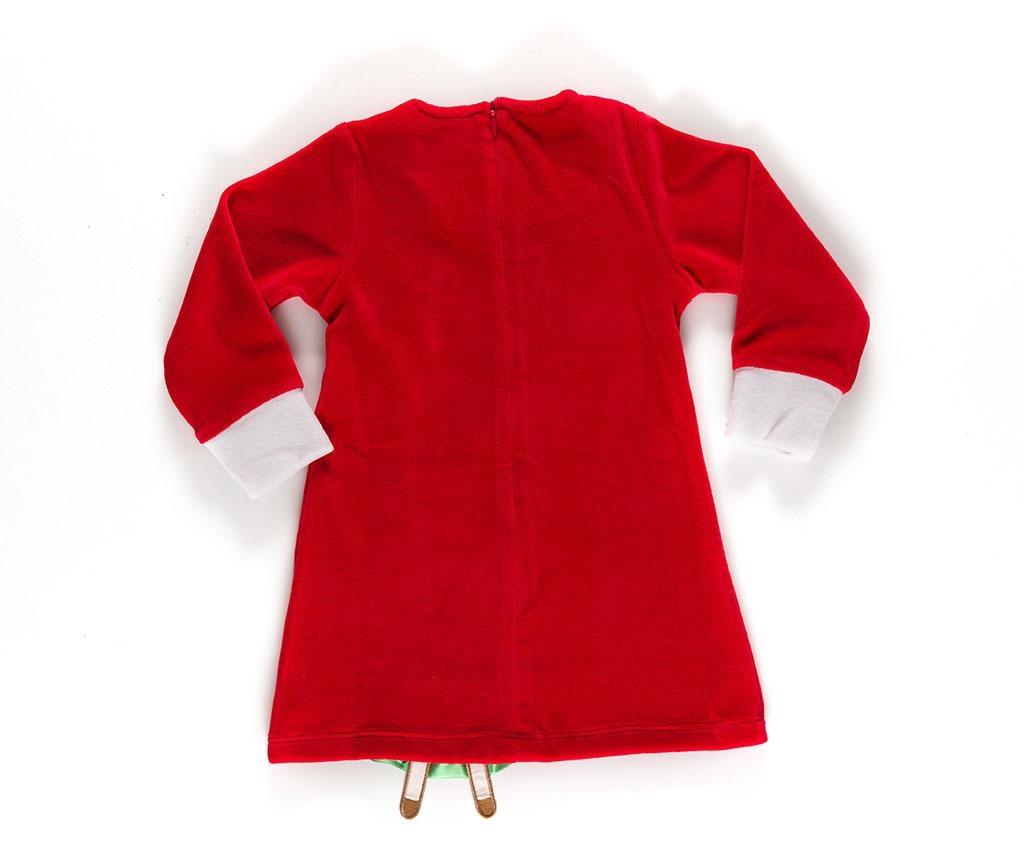 Šaty s dlouhým rukávem pro děti Cute Deer Velvet 7 r.