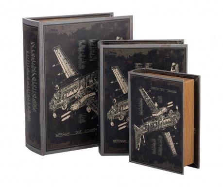 Set 3 škatel v obliki knjige Wiraway Dive Bomber