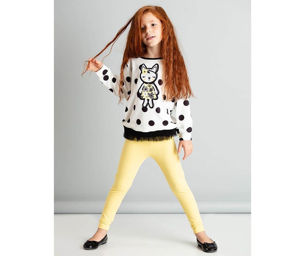 Set bluza si colanti copii Fox 3 ani