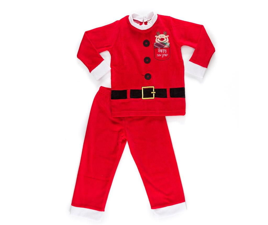 Set bluza si pantaloni pentru copii Christmas  Santa Boy 2 ani