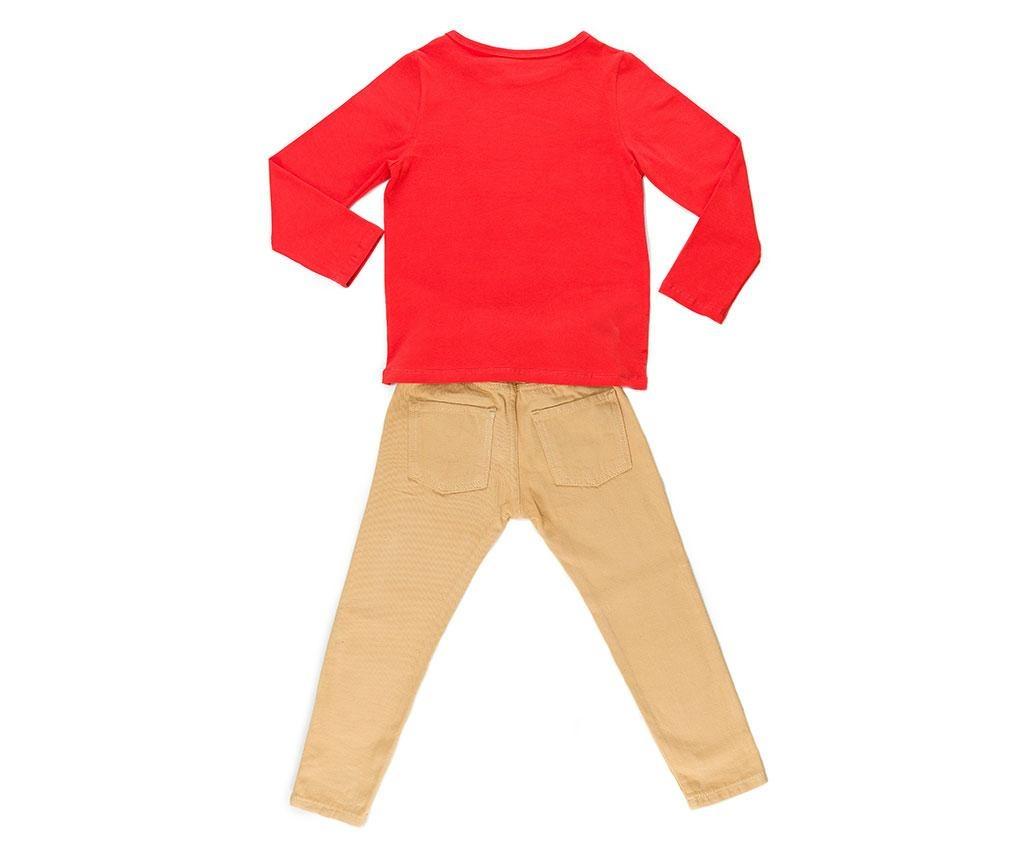 Set bluza si pantaloni copii Smile Gabardine 6 ani