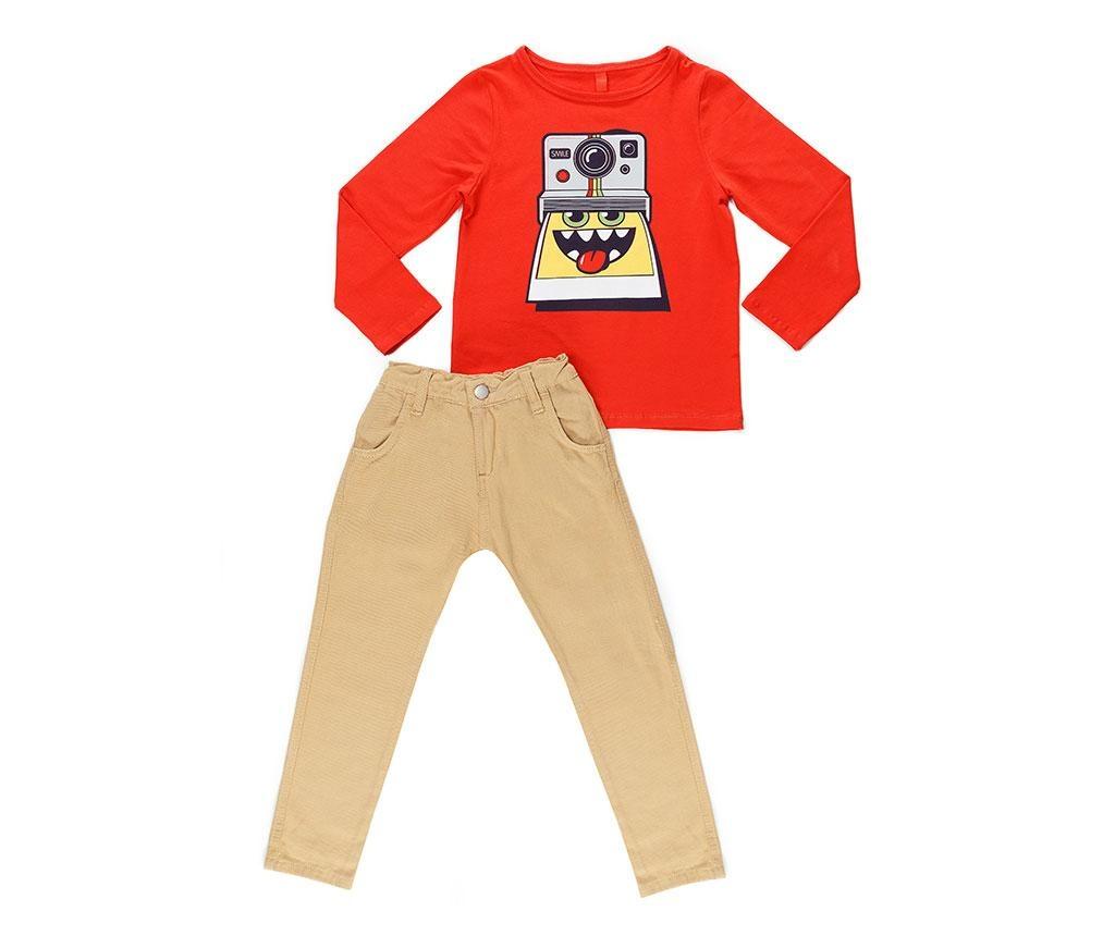 Set bluza si pantaloni copii Smile Gabardine 8 ani