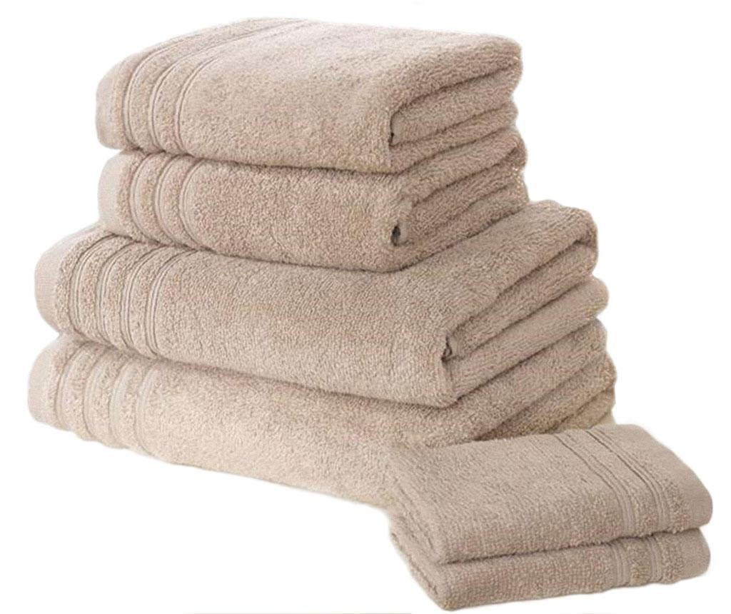 Set 6 kopalniških brisač So Soft Taupe
