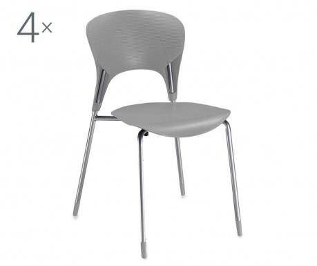Set 4 scaune Lolli Grey