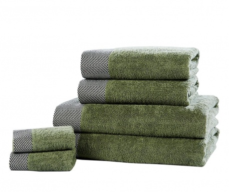 Sada 6 ručníků Tidal Sage