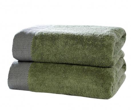 Sada 2 ručníků Tidal Sage 90x140 cm