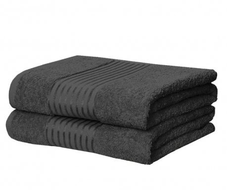 Sada 2 ručníků Windsor Grey 90x140 cm