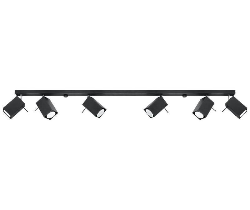 Stropna svjetiljka Toscana Six Black