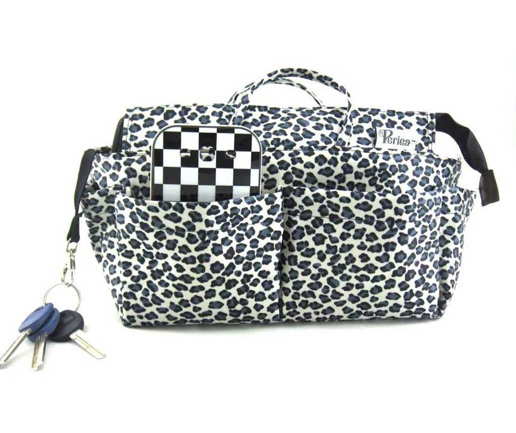 Organizér do tašky Nikki Leopard Silver