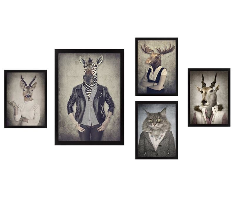 Set 5 slik Hipster Animals