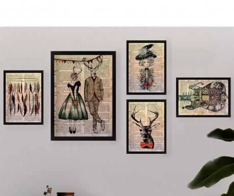 Set 5 tablouri Hakia
