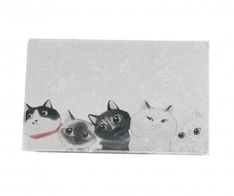 Χαλάκι μπάνιου Curious Cats 40x60 cm