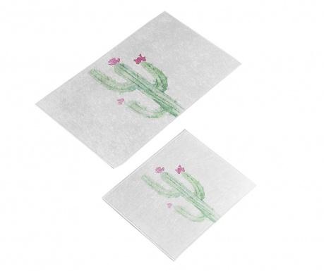 Σετ 2 χαλάκια μπάνιου Fiore Cactus