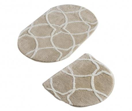 Σετ 2 χαλάκια μπάνιου Bevis Oval Rock