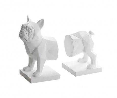 Sada 2 knižných zarážok Bulldog
