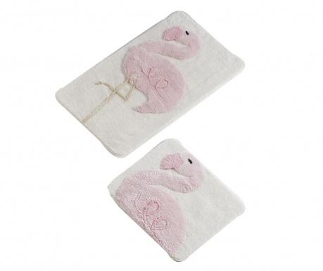 Σετ 2 χαλάκια μπάνιου Flamingo
