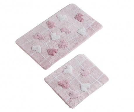 Σετ 2 χαλάκια μπάνιου Kalbim Pink