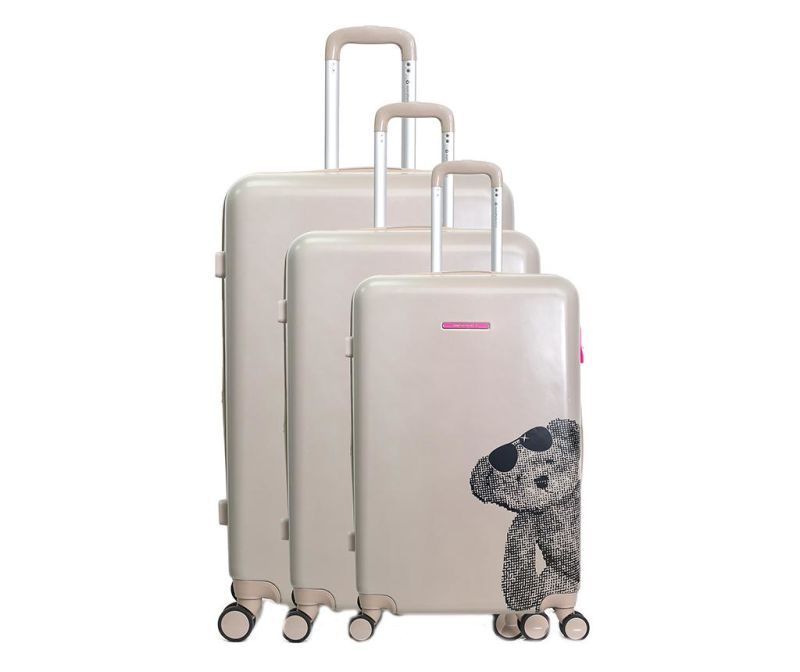 Set 3 trolere Ours Lunette Champagne
