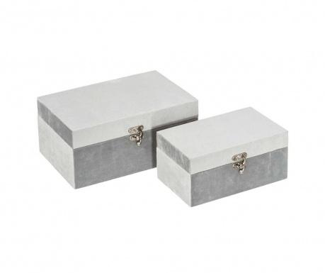 Set 2 cutii cu capac Danse Grey