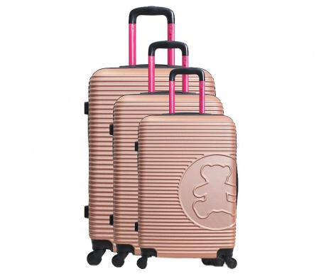 Σετ 3 βαλίτσες τρόλεϊ Big Bear Brown