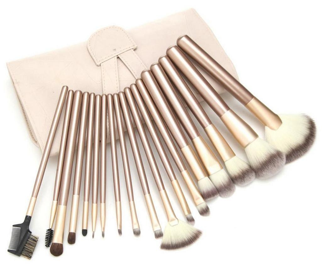 Set 24 pensule pentru machiaj si husa Purse Style