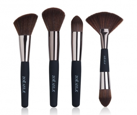 Sada 4 štetcov na make-up Professional Soft Touch Brown