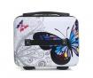 Auckland Print White 3 db Gurulós bőrönd és kozmetikai táska