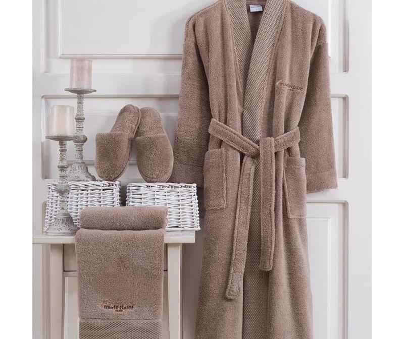 Set textile pentru baie 3 piese Jaina Taupe L
