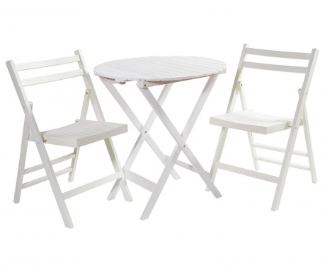Set zložljiva miza in 2 zložljiva stola Utaria