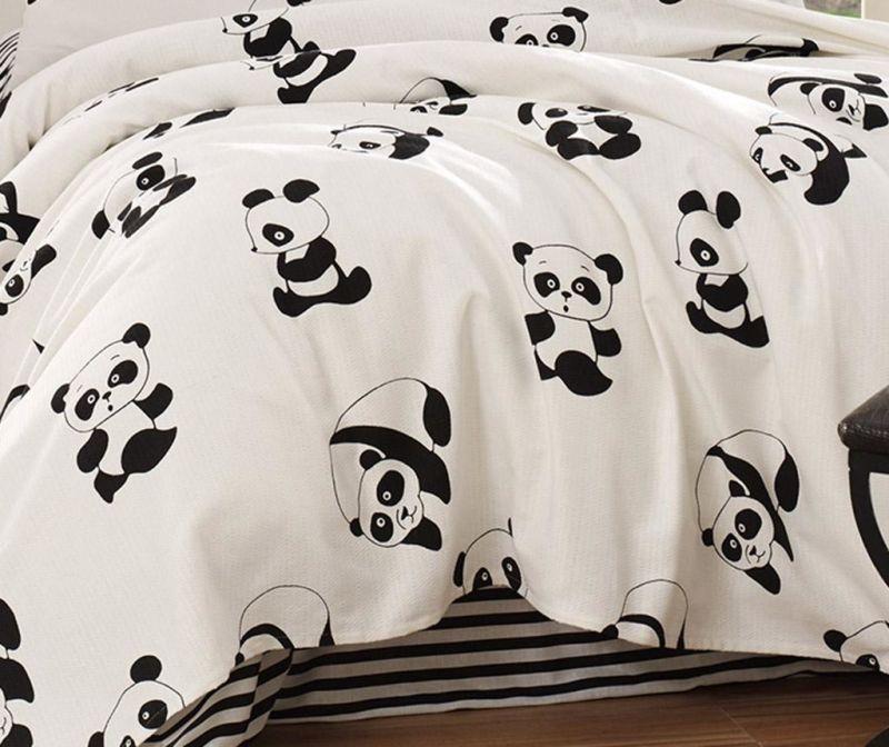 Posteljno pregrinjalo Pique Panda 200x200 cm