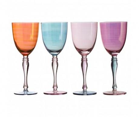 Set 4 kozarcev za vino Aurora Pastel 342 ml
