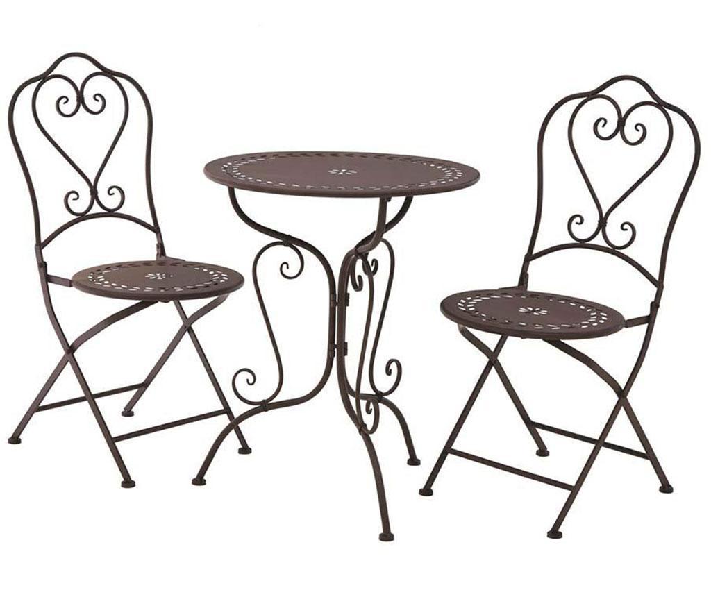 Set stol i 2 sklopive stolice za vanjski prostor Finchwood Brown