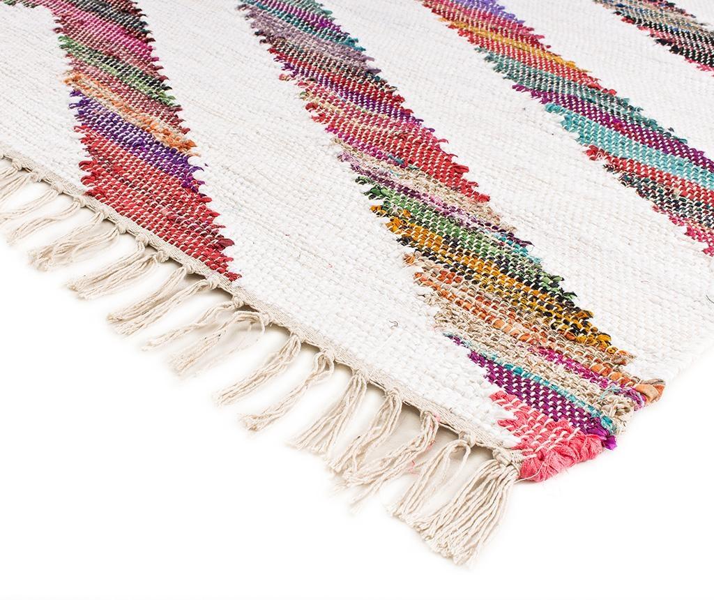 Tepih Boho Chindi Kilim Arrow White 160x230 cm