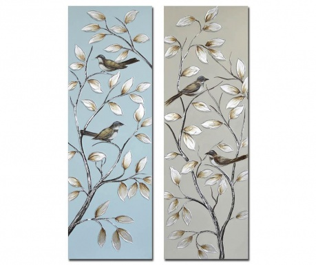 Set 2 slike Birds Branches 40x120 cm