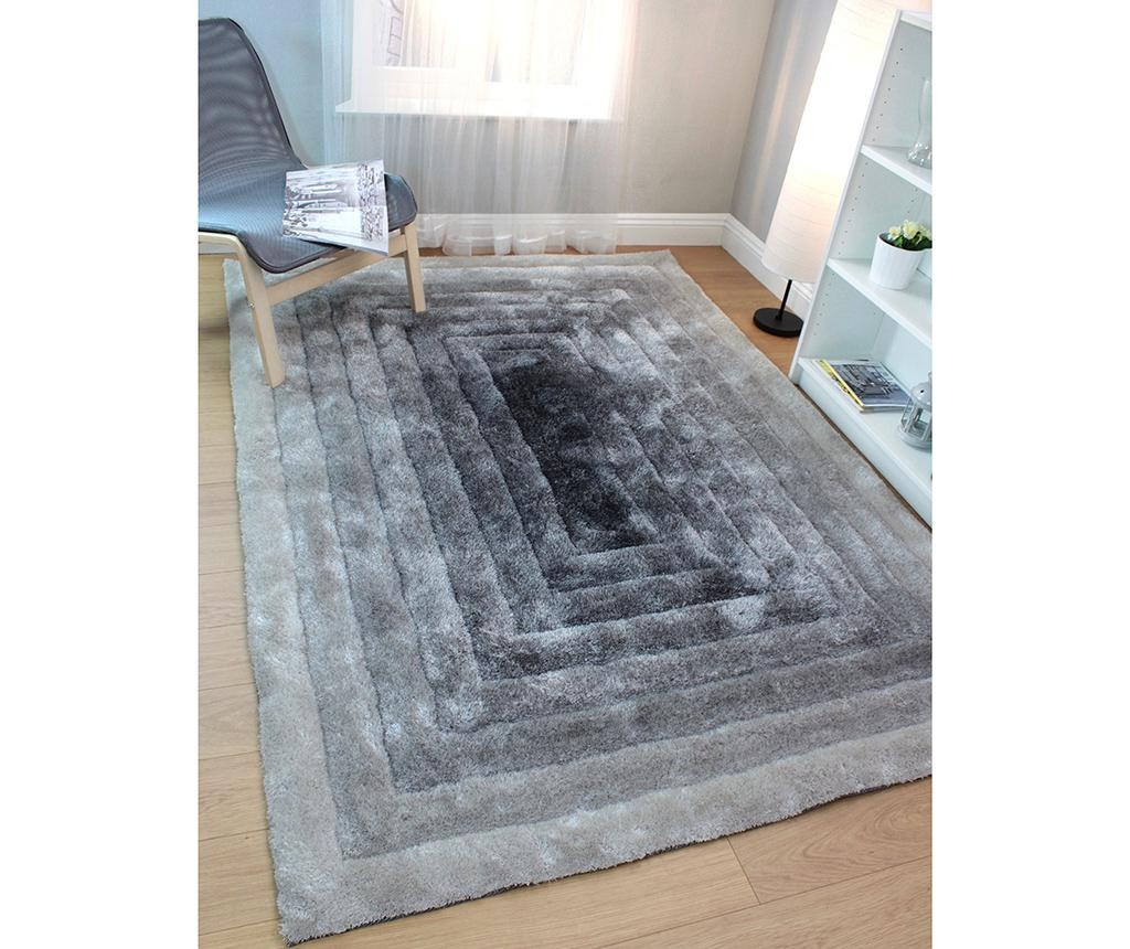 Preproga Ridge Grey & Silver 80x150 cm