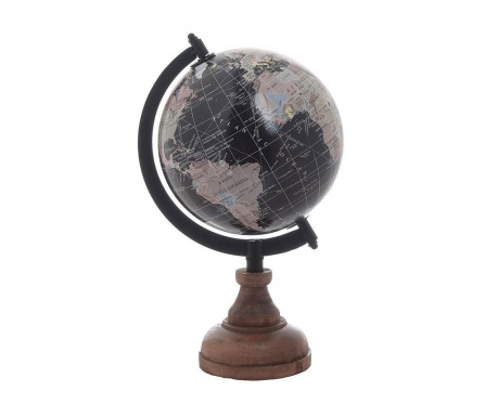 Dekorace Globe Black Striped