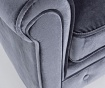 Fotoliu Chesterfield Velvet Grey