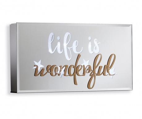 Decoratiune luminoasa de perete Life is Wonderful