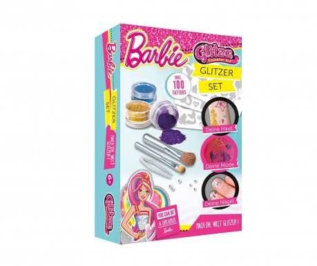 Σετ τατουάζ με glitter 14 κομμάτια Barbie