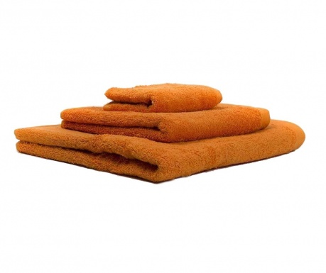 Set 3 prosoape de baie Alfa Orange