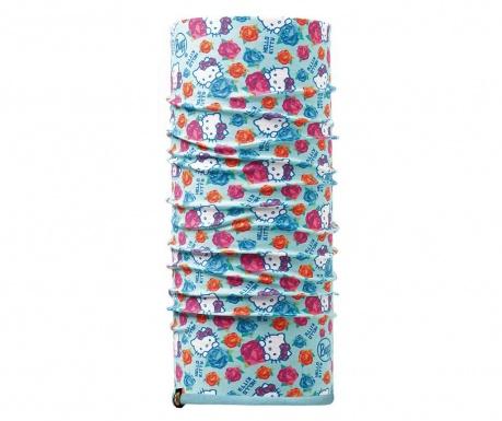 Fular circular copii Buff Hello Kitty Roses Blue 24x75 cm