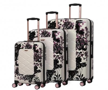 Zestaw 3 walizek na kółkach Varnia Black Rose