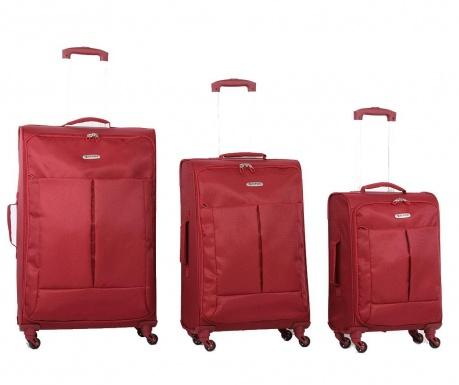 Zestaw 3 walizek na kółkach Ultralight Wine