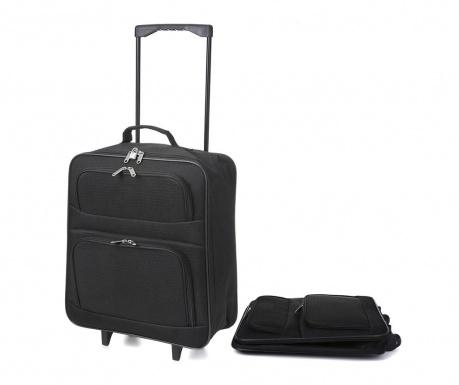 Składana walizka na kółkach Wanfa 39 L