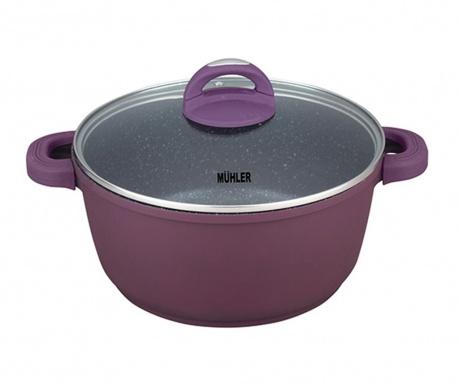 Gwen Purple Lábas fedővel 2.2 L