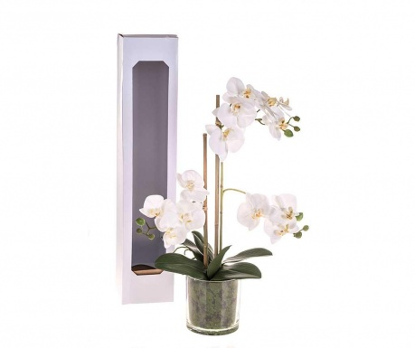 Floare artificiala in ghiveci Phalaenopsis White L