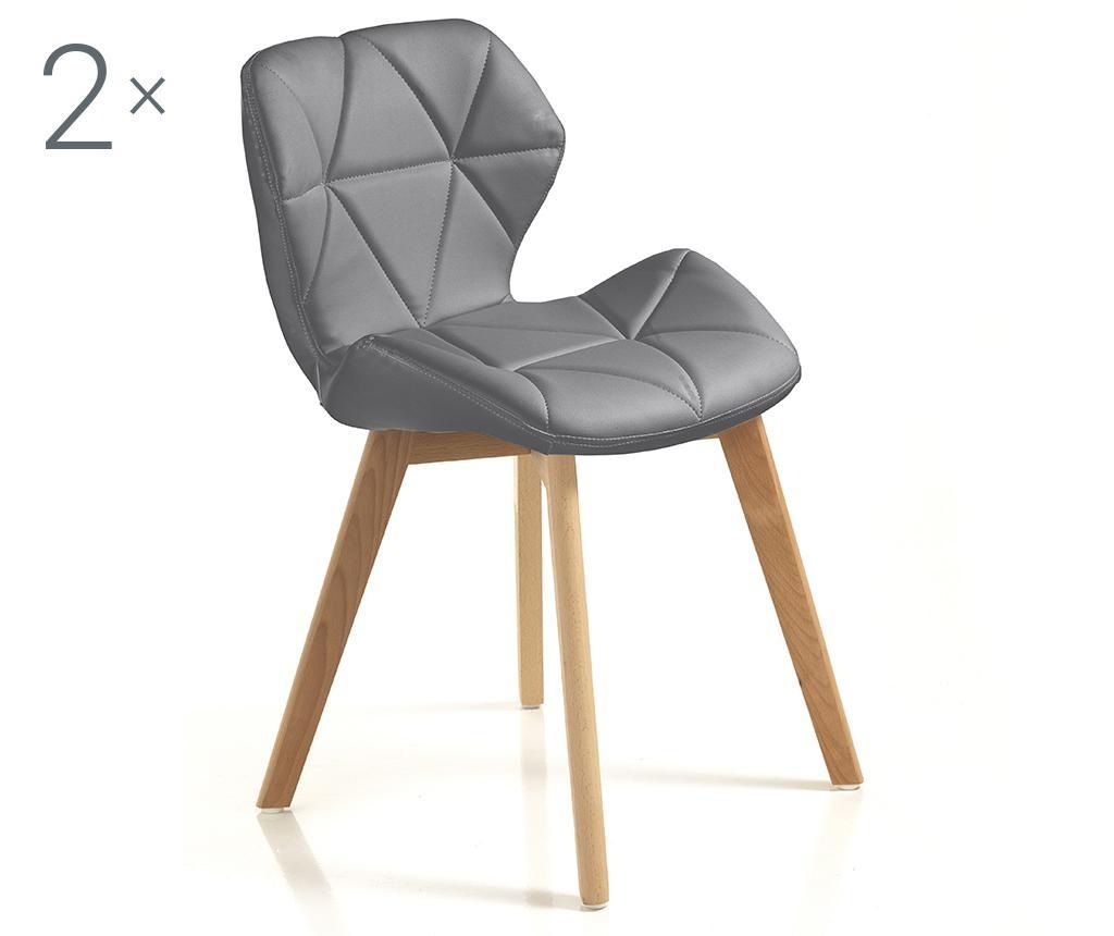 Set 2 stolov New Kemi Grey