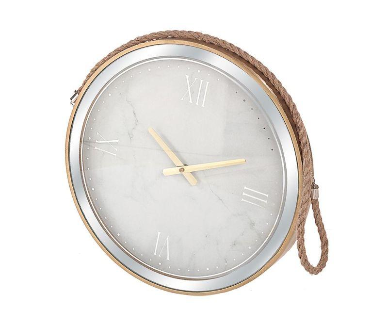 Nástěnné hodiny Marble White