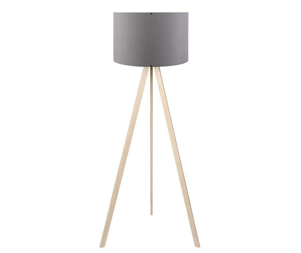 Podlahová lampa Ethan Grey Oak