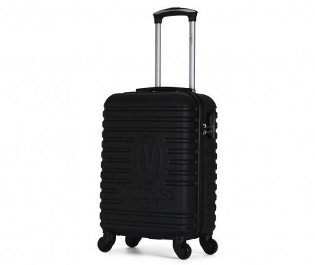 Montreal Black Gurulós bőrönd 35 L